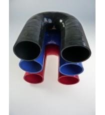 63mm - Codo 180 ° de silicona - REDOX