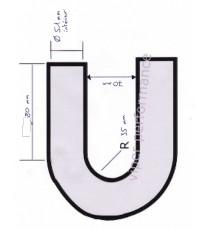 51mm - Codo 180° de Silicona - REDOX