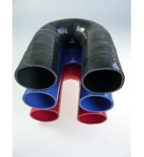 60mm - Codo 180 ° de silicona - REDOX
