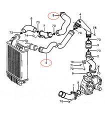 kit 2 manguitos entrada de aire silicona por ALFA ROMEO 156 2.4 JTD 841 C000 150cv 03/2002 - 09/2005